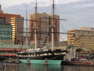 The USS Constellation in the Inner Harbor