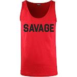 Mens SAVAGE Tank Top Shirts Hip Hop Culture Urban Apparel (Red Blk Ltrs