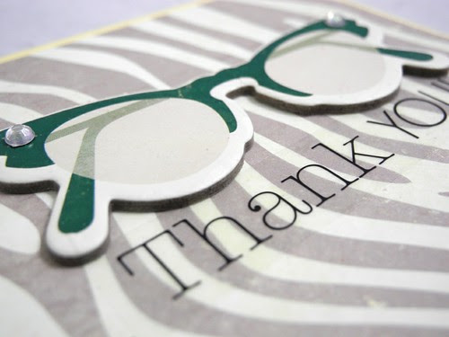funky glasses thank you (detail)