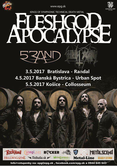 DEMON NEWS: CHRIST AGONY Join FLESHGOD APOCALYPSE in Slovakia!
