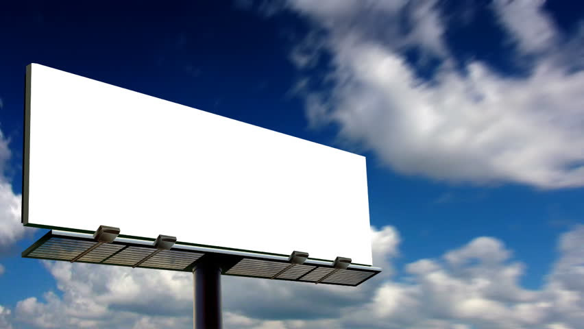 Blank Billboard With Moving Clouds (HD 1080p) Stock Footage Video ...