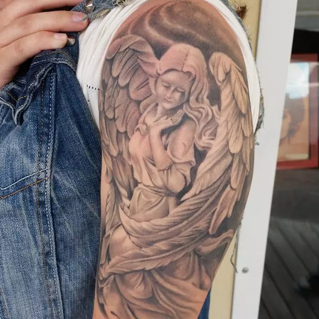 110 Best Guardian Angel Tattoos Designs Meanings 2019