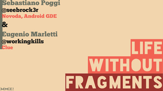 Life Without Fragments (with Eugenio Marletti)