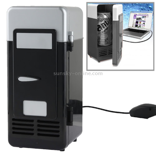 [$10.09] Mini USB PC Fridge Beverage / Drink Cans Cooling / Heating(Black)
