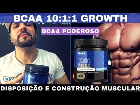 BCAA 10:1:1 GROWTH SUPPLEMENTS UM BCAA BOM E BARATO MELHORA A CONSTRUÇÃO MUSCULAR E DIMINUI CANSAÇO