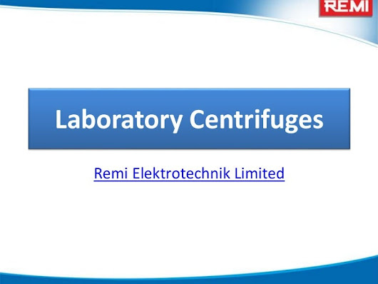 What is Laboratory Centrifuge and how do they seperate?