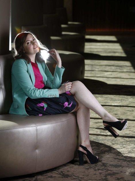 Lena Dunham wearing Jean-Michel Cazabat Shoes