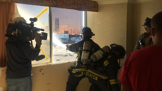 Firefighters get real-life training experience
