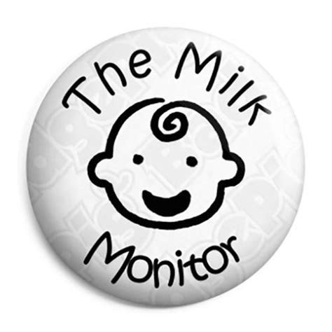 The Milk Monitor   School Award Button Badge, Fridge