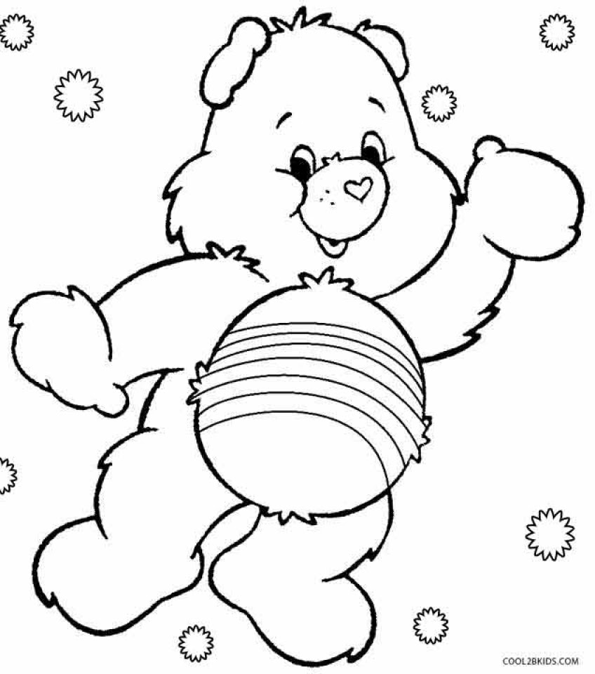Get This Free Preschool Care Bear Coloring Pages to Print ...