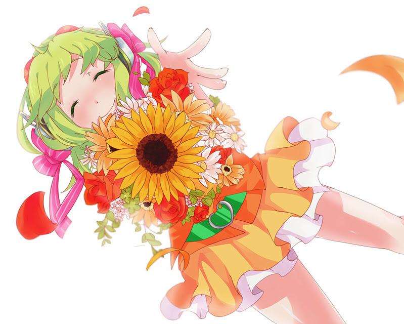 Gumi花とグミの可愛いイラスト壁紙ボカロ画像