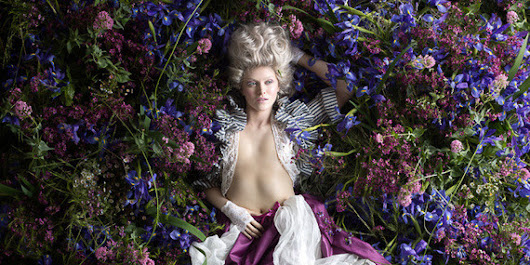 Playfully Sensual Rococo Portraits Captured In-Studio with Thousands of Real Flowers (NSFW)