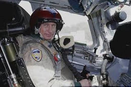 Putin in a TU-160