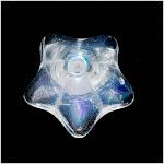 Czech Glass Beads 9mm Flower Beadcaps Crystal AB (15)
