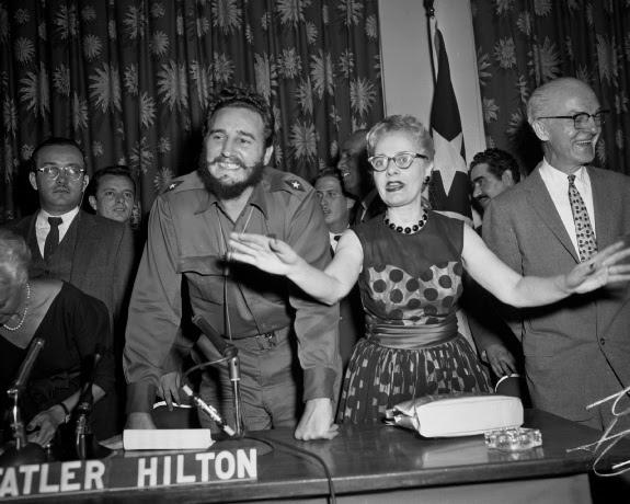 Fidel Castro muestra una gran sonrisa en al Universidad de Columbia el 22 de abril 1959. Foto: Revolución
