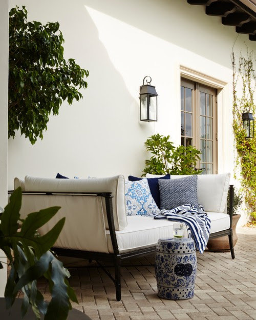 Blue and White Mediterranean Style
