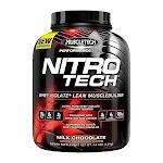 MuscleTech Performance Series Nitro-Tech Dietary Supplement, Milk Chocolate - 4 lb tub