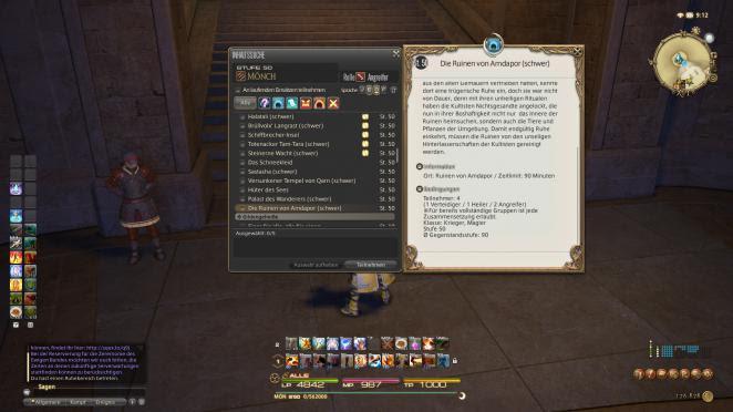 Final Fantasy 14 Instanz Guide Ruinen Von Amdapor Schwer