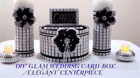 DIY GLAM WEDDING CARD BOX/ELEGANT CENTERPIECE   YouTube