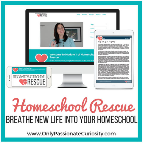 Homeschool Rescue by Only Passionate Curiosity {Homeschool Review}