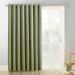 """84""""x100"""" Kenneth Extra Wide Blackout Grommet Top Door Curtain Panel Green - Sun Zero"""