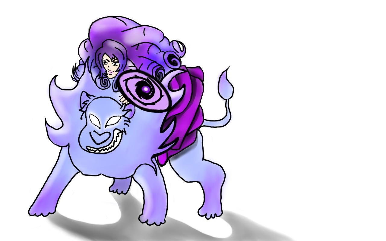 Rose Quartz and Lion in a blue and purple color scheme :D