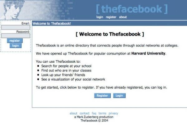 Facebook design at launch