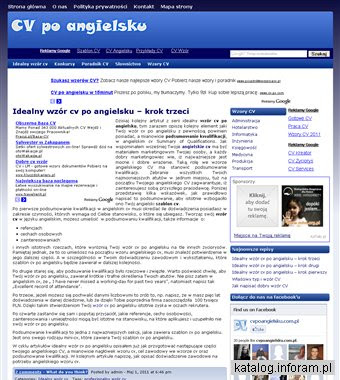Cv Po Angielsku Wzory Angielskich I Polskich Cv Kataloginforampl