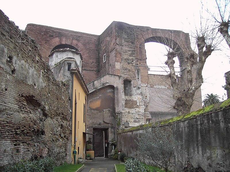 Celio - acquedotto neroniano a san Tommaso in Formis 1789.JPG