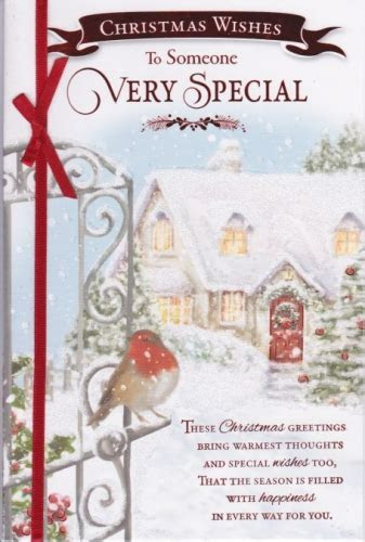 Christmas Wishes to Someone Special Personalised Braille