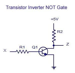 Transistor Inverter NOT Gate