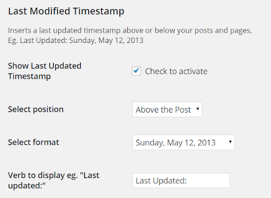 Customize WordPress Posts to Display Updated Date Instead of Published Date