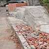 Cratera aberta por causa de obra em rua na Vila Nova Cachoeirinha
