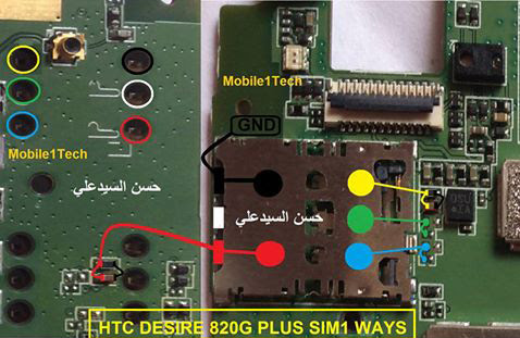 HTC 820G Plus Insert Sim IC Solution Jumper Problem Ways
