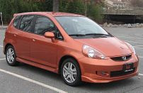 2007-2008 Honda Fit photographed in USA.