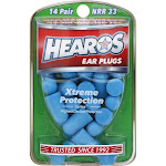 Hearos Xtreme Protection Series Ear Plugs, NRR 33 - 14 pair