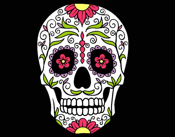 Dibujo De Calavera Mexicana Del Día De Los Muertos Pintado Por Natyp