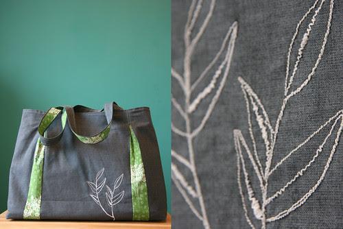 Bag for Nele - thread sketching