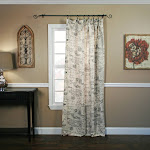 Ellis Curtains Script Window Curtain Panel, Black