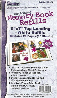 5x7 Refill Pages Scrapbook Photo Album Refills Memory Book 5 X 7 Top