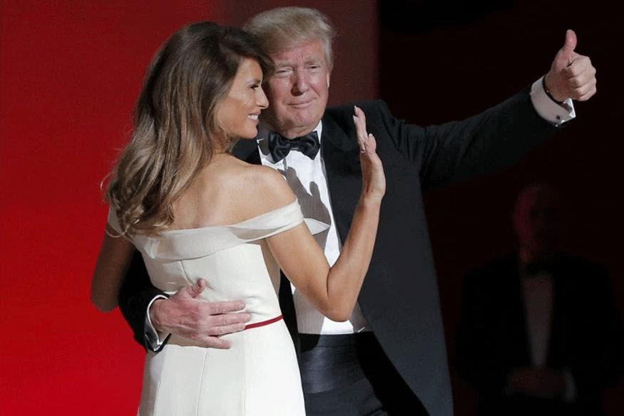 Image result for images of Trump and Melania's Inaugural dance