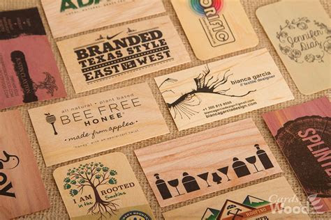 Wood Business Cards & Wedding Invitations   Cards of Wood