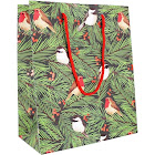 Waste Not Paper - Birds in Fir Tree Holiday Medium Gift Bag - 3 Bags