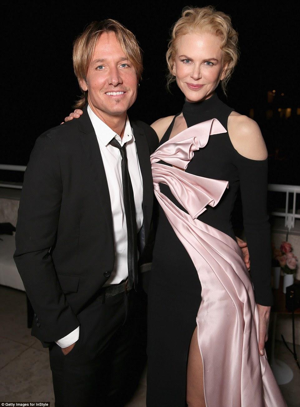 Felizes juntos: Nicole eo marido Keith Urban colocada por dentro, descartando os rumores de que eles estão nas rochas