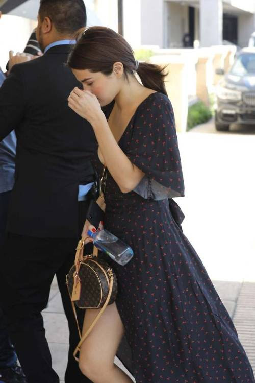 February 1: [More] Selena arriving at Barneys New York in Los...