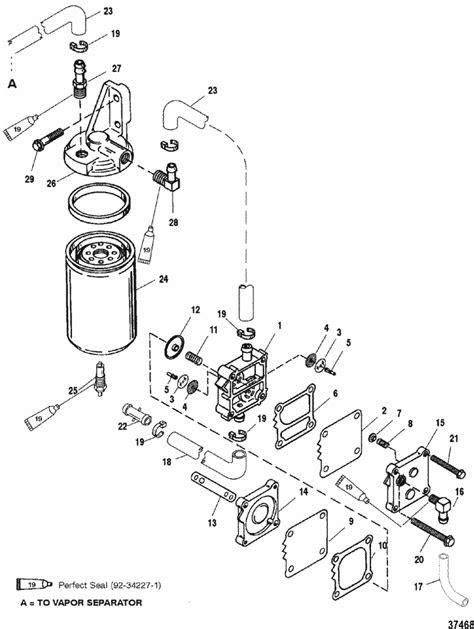 Mercury Marine V-200 HP (EFI) Fuel Pump Parts