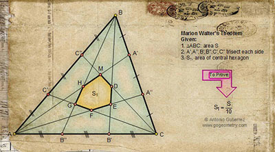 Geometry: Jigsaw Puzzle: Marion Walter's Theorem. 32 Quadrilateral Pieces.