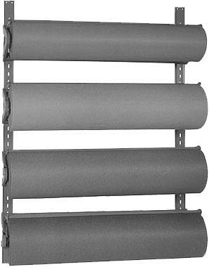 Bulman Products Horizontal Floor And Wall Mount Paper Racks