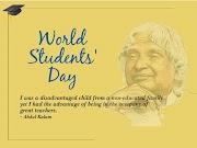 World Student Day Quotes In Hindi English Happy Students Day Wishes Message Shayari Slogan Status
