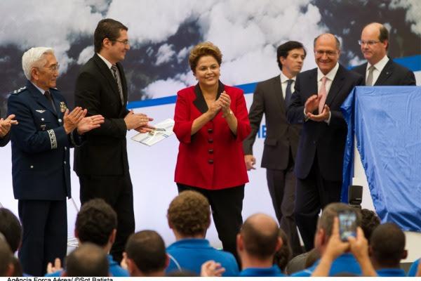 Dilma Roussef inaugura o novo hangar  Sgt Bruno Batista / Agência Força Aérea